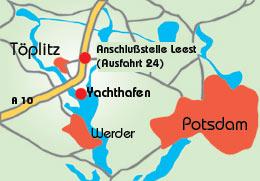 Kartenansicht Töplitz