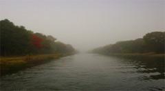 Herbst und Nebel auf der Havel – Oder - Wasserstraße